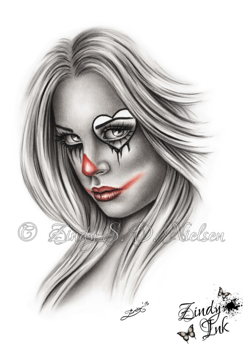 Break My Heart Chicano Clown Girl