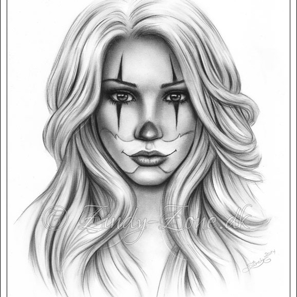 Sad Girl Clown Drawings Tinambarber Info
