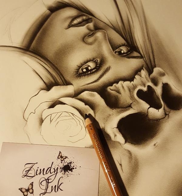 Skull Rose Girl